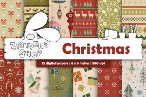 Christmas Paper pack vol. 1