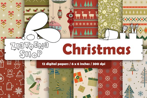 Christmas Paper pack vol. 1 - Patterns