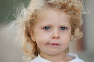 Beautiful blond child