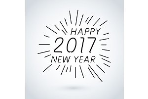 Happy new year 2017 vector art