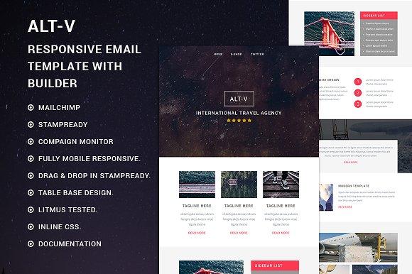 Alt V Responsive Email Template Email Templates Creative Market