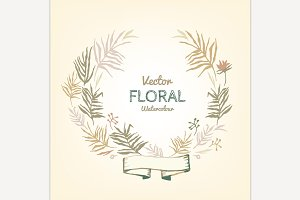 Floral Garland illustration