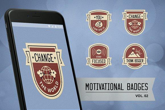 Motivational badge design vol. 02 - Illustrations