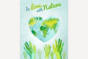 Watercolour Ecology Concept