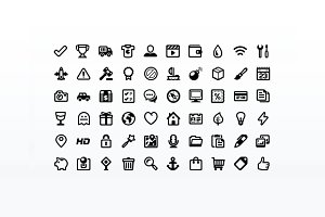 Outline Style Pictogram Set