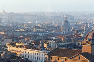 Rome city top panorama, Italy