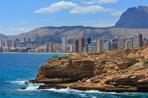 Benidorm city coast view, Spain