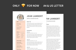 Resume & Cover Template · A4 & US