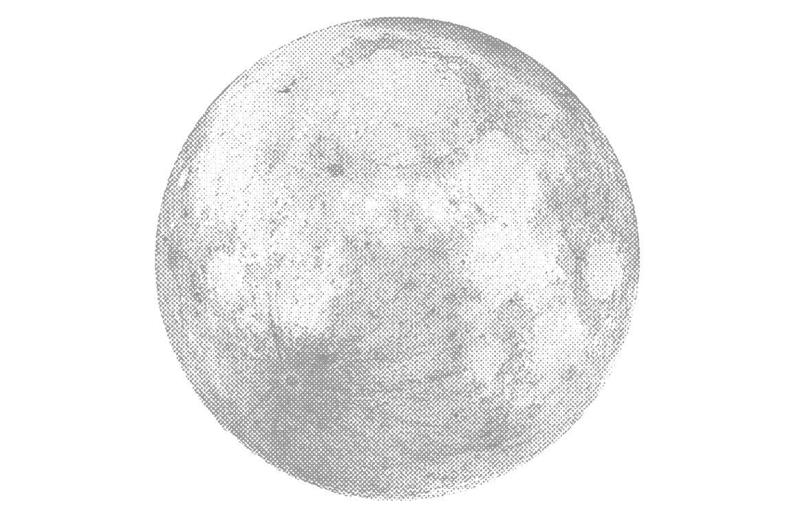Silver Moon Vector Textures Creative Market