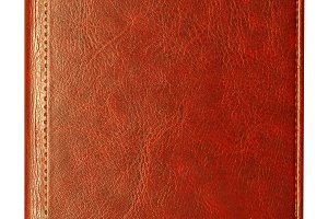 brown leather diary notebook