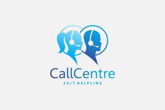 call centre logo creative illustrator templates creative market call centre logo