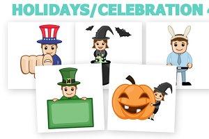 50+ Holidays Cartoons Concepts