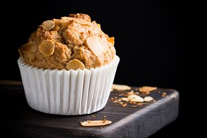 Homemade coconut cinnamon muffins