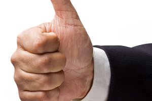hand with thumb-up
