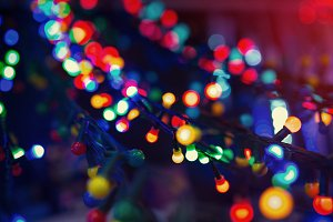 Colorful christmas illumination
