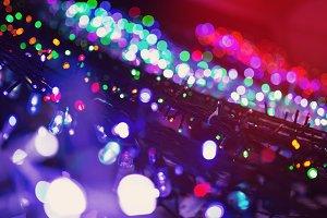 Colorful christmas illumination
