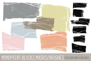 Monoprint Brushes Clipart & Brushes