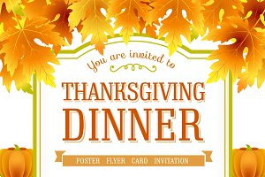 Invitation for Thanksgiving day.
