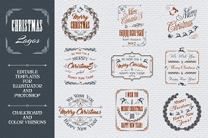 Christmas Greeting Logos