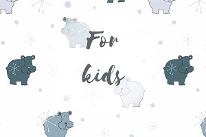Vector patterns set for kids