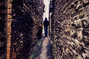 Narrow and Dark Alley