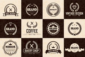 12 Logos, Badges & Labels V.3