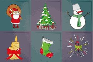 six Christmas icons
