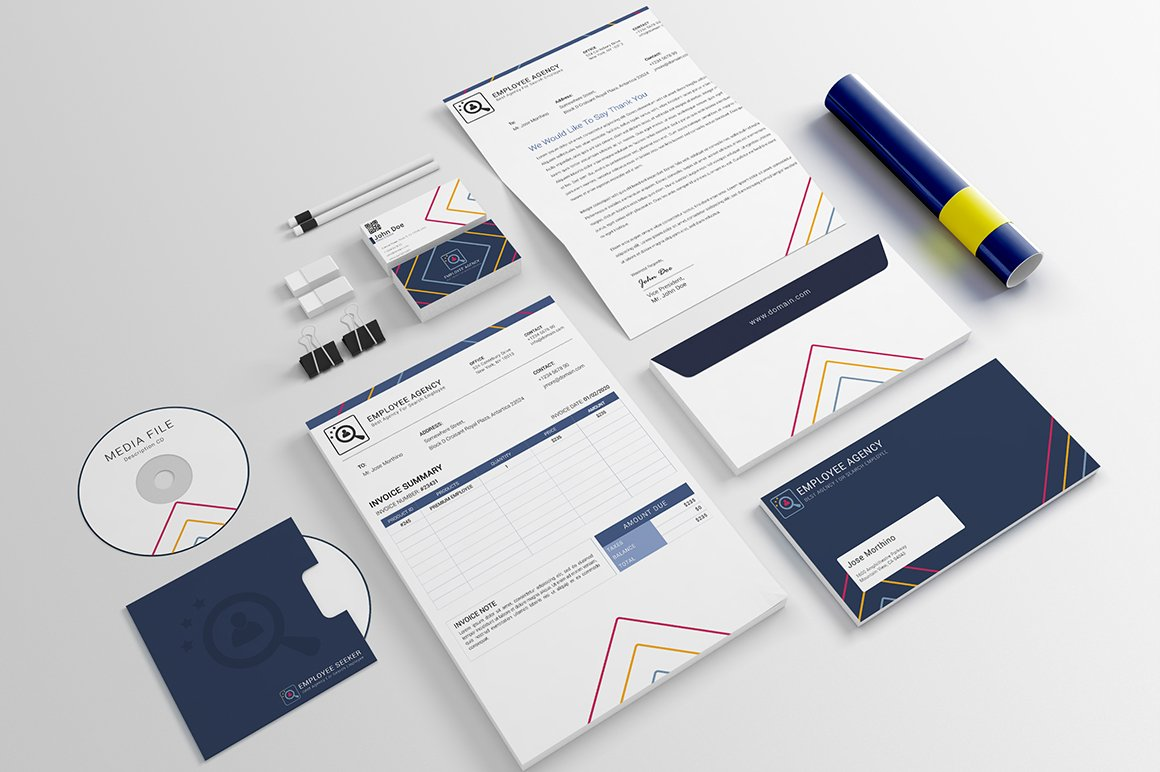 employee agency stationery templates stationery templates creative market
