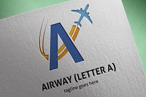 Airway (Letter A) Logo