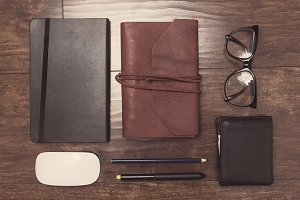 Leather notepads and other