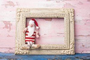 Christmas Santa card.Copyspace