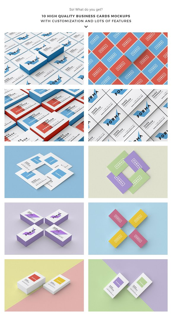 Business cards mockup pack product mockups creative market reheart Image collections