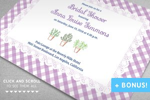 """Provence"" Bridal Shower Set"