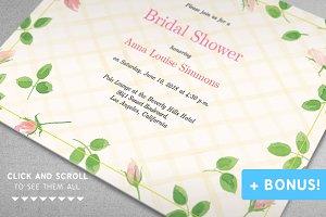 """""""Garden Rose"""" Bridal Shower Set"""