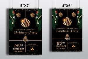 Christmas Party Flyer Template-V429