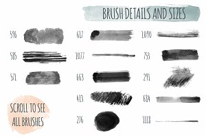 180+ Handmade Watercolor PS Brushes
