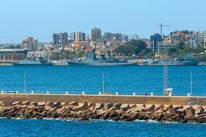 Summer Cartagena port, Spain.