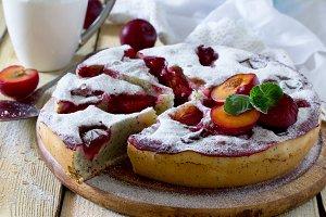 Plum cake sponge cake