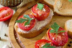 Italian tomato bruschetta