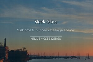 Sleek Glass - One Page HTML 5 + CSS3