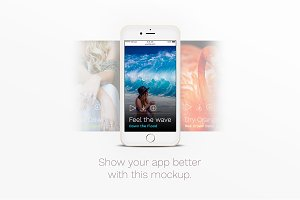 iPhone™ Mockup with Slide Screen
