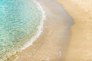 Clear water and sandy coast