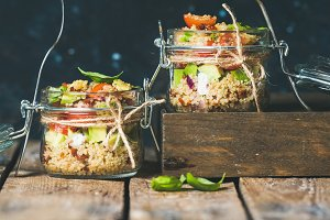 Healthy homemade quinoa salad