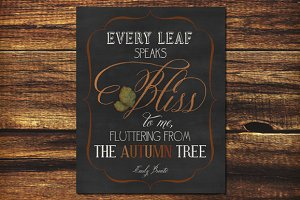 Printable Art Emily Bronte Autumn