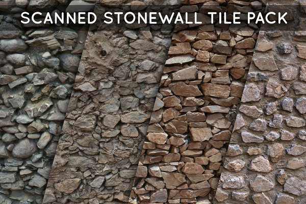 3D Organic: Amnoon - Scanned Stonewall Tile Pack 01