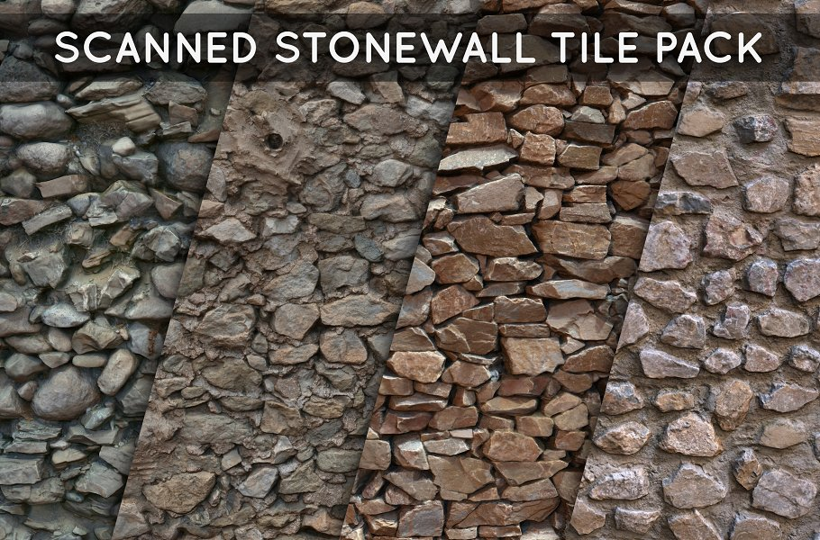Scanned Stonewall Tile Pack 01 ~ Organic ~ Creative Market