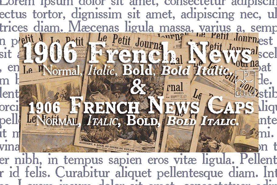 1906 French News OTF Family ~ Slab Serif Fonts ~ Creative Market