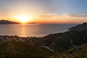 Adriatic sea sunset view