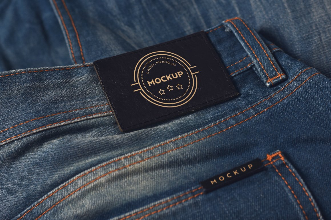 denim clothing label mockups product mockups creative market