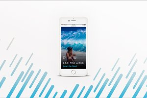 iPhone™ Mockup with Diagonal Pattern